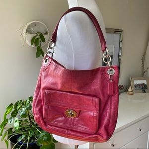 Coach Hamptons Pebble Leather Shoulder Hobo